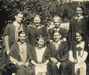 Murray seated fron left on his graduation day 1929