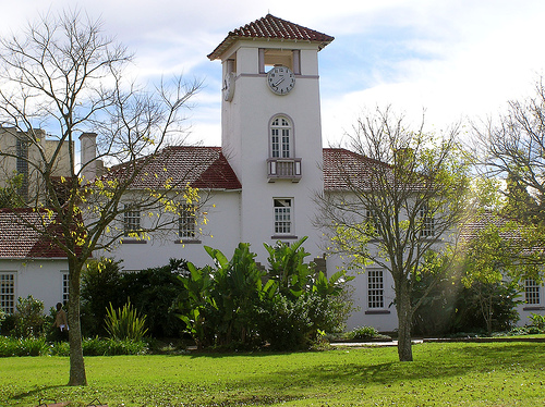 Fort Hare\'s famous Theology building in Alice, South Africa. Photo by Valerie Hinojosa