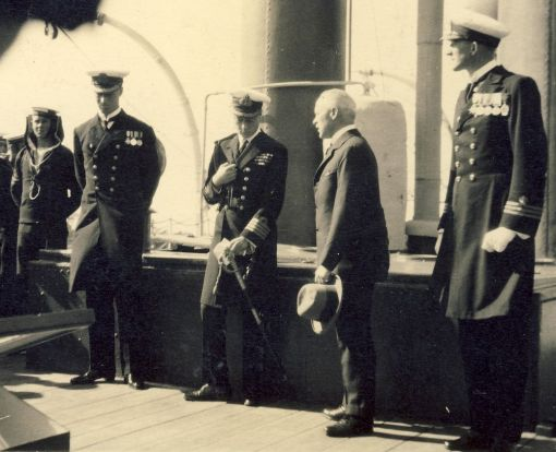 The Prince of Wales on board the SATS General Botha 1925