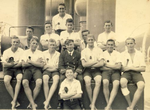 Starboard Watch racing crew 1925