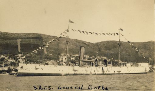 The SATS General Botha dressed overall in Simon's Bay