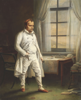 Napoleon on St Helena by Charles Auguste Steuben