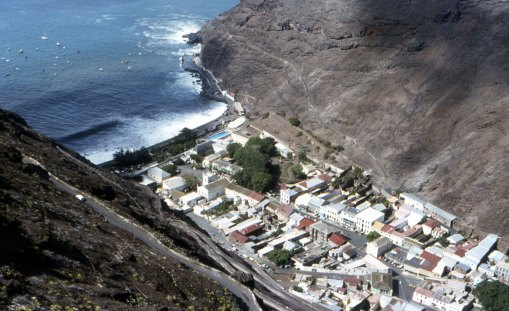 Looking down on Jamestown, St Helena. Photo by Andrew Neaum