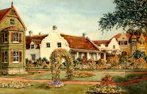 Thatched Cottage, George, the home of the Moris family