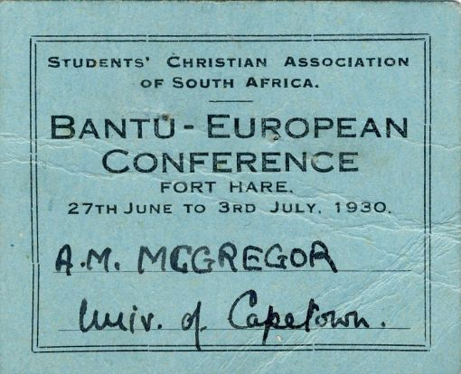 Murray McGregor's Conference membership card