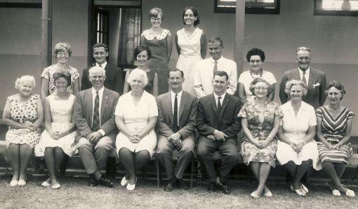 Butterworth High School Staff 1967. Murray third from left, Margery second from fight, both in front row.