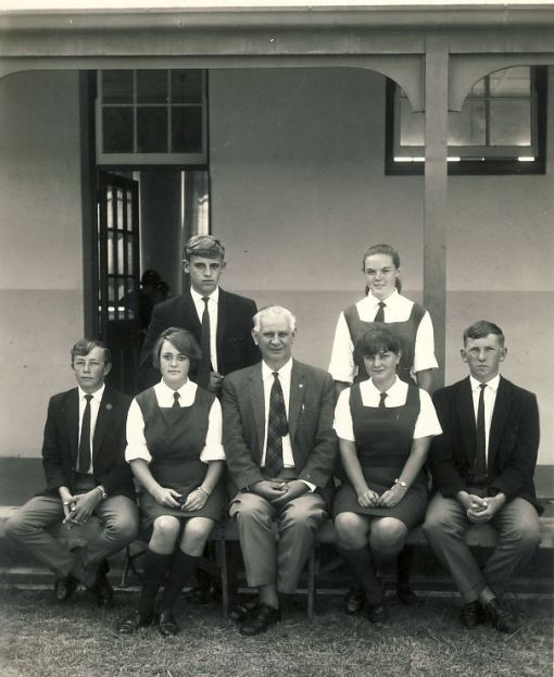 Murray with his Standard 9 class in 1967