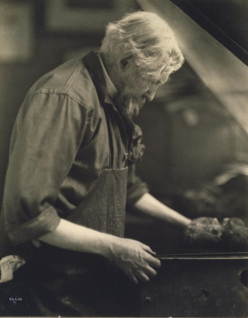 Joseph Pennell at work