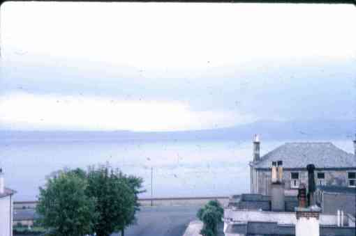 Tail o the Bank from Murray and Marge's hotel room. Photo by Margery McGregor 1964