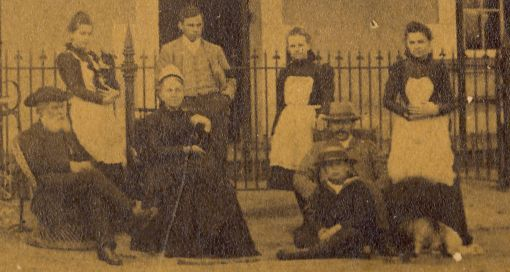 Rev Andrew McGregor (Snr) and his wife with (standing Lily, Andrew, Hetty and Mina and sitting to the right of the picture Alexander and, in front of him, John