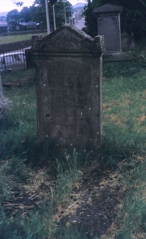 The tombstone of Alexander McGregor, merchant of Golspie